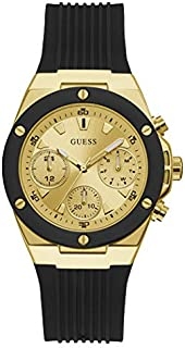 Guess Sport Watch for Women, Stainless Steel Case, Champagne Dial, Analog -GW0030L2