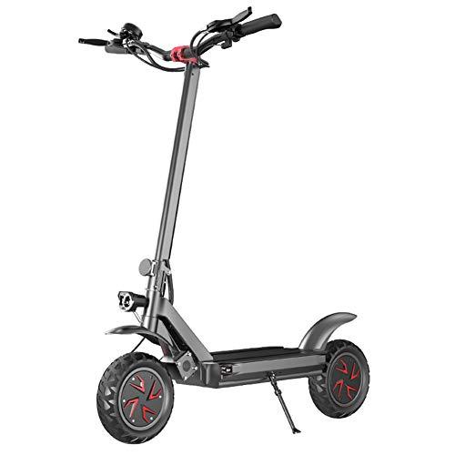 WM Scooter eléctrico Adulto Plegable Ajustable Scooter eléctrico 1600w Motor Velocidad máxima 60 km/H Dual Drive 10 Pulgadas Off-Road Scooter de conmutación Batería de Litio