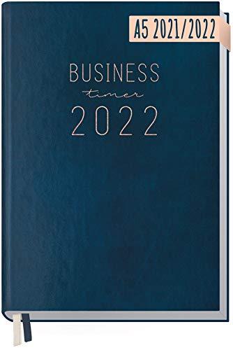 Chäff Business-Timer 2021/2022 A5 [Nachtblau] Terminplaner, Wochenkalender 18 Monate: Jul 2021 - Dez 2022 | Terminkalender, Wochenplaner, Organizer | klimaneutral und nachhaltig