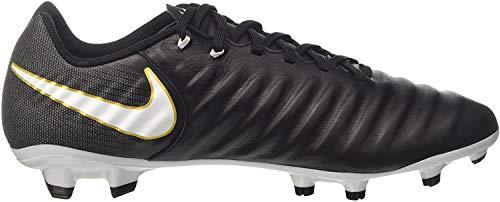 Nike Herren Tiempo Ligera Iv Fg Fußballschuhe, Schwarz (Black/white-black-metallic Vivid Gold), 42 EU