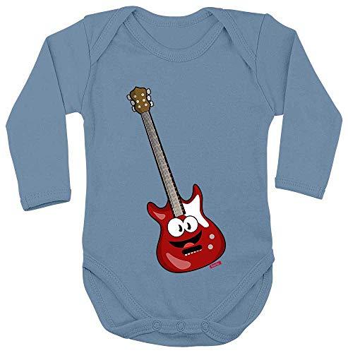 Hariz - Body de manga larga para bebé, guitarra eléctrica, instrumentos musicales,...