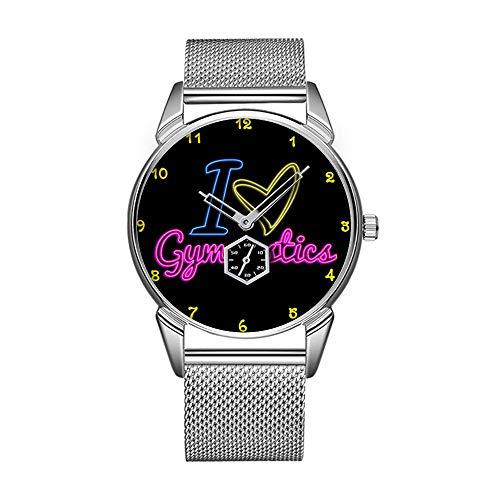 Mode wasserdicht Uhr minimalistischen Persönlichkeit Muster Uhr -589. Neon-ich Liebe Gymnastik
