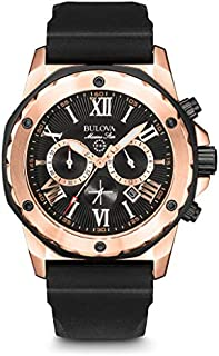 Bulova Men's 44mm Marine Star Silicone Strap Watch