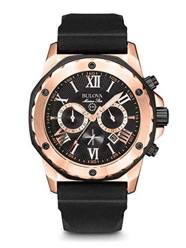 Bulova Reloj Analogico para Hombre de Cuarzo con Correa en Silicona 98B104