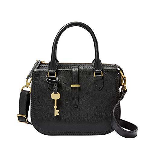 Fossil Women's Ryder Leather Small Satchel Handbag, Brown