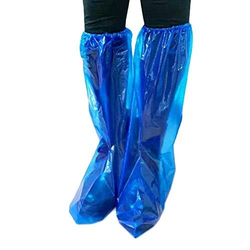 überschuhe, 70 Stück Schuhüberzug Einweg, Blau Wasserdicht Überziehschuhe Stiefel Cover rutschfeste Überschuhe für Damen und Herren