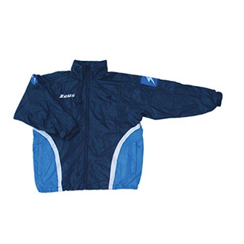 Zeus - Coupe Vent Jolly - Couleur : Bleu Fonce Bleu Royal Blanc - Taille : XXL
