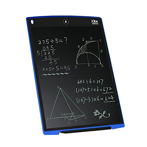 12 Inch LCD Writing Tablet, iQbe Kids and Business Durable Writing Tablet eWriter, Convenient to Carry(Blue)