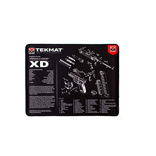 TekMat Ultra 20 - Springfield Armory XD Gun Cleaning Mat, Black, One Size