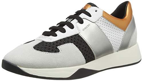 Geox D SUZZIE B, Zapatillas Mujer, Marfil (Black/Off White C9876), 40 EU