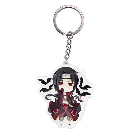 dili-bala Top Anime Schlüsselbund Naruto Sakura Kakashi Itachi Acryl Schlüsselbund Figuren Anhänger Puppe Schlüsselring Niedlichen Cosplay Schlüsselring Manga Collection Geschenke(Multi-Style06)