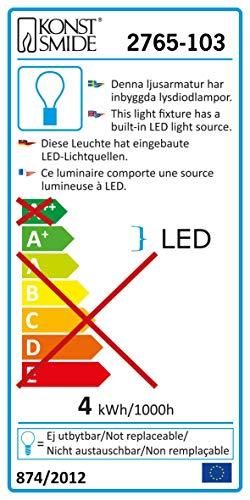 Konstsmide 2765-103 LED Leuchtstäbe / für Außen (IP44) /  24V Außentrafo / Schneeeffekt / 60 warm weiße Dioden / transparentes Kabel