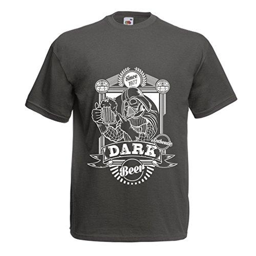 lepni.me Männer T-Shirt Die dunkle Seite des Bieres, lustiges trinkendes Liebhabergeschenk (Medium Graphit Mehrfarben)