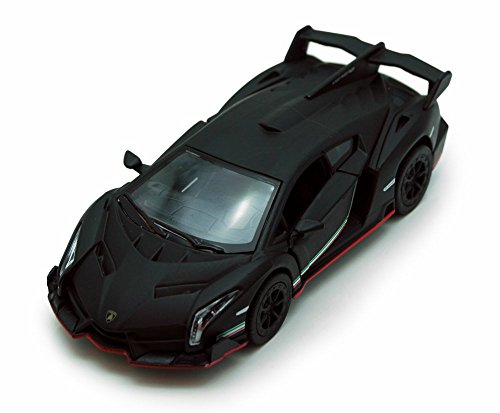 Kinsmart Lamborghini veneno Schwarz 5370d 1 36 Maßstab Druckguss-Modellspielzeugauto