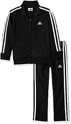 adidas Boys' Little Tricot Jacket & Pant Clothing Set, Adi Black, 6