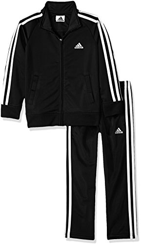 adidas Boys' Toddler Tricot Jacket & Pant Clothing Set, Adi Black, 4T