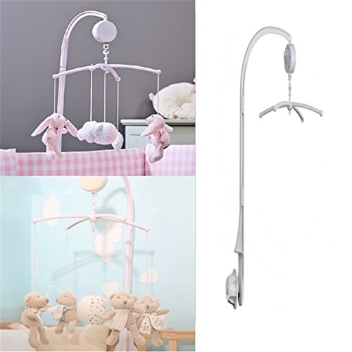 VWH Baby Crib Mobile Bed Bell Holder Bracket with Wind Up Music Box-Without Toys