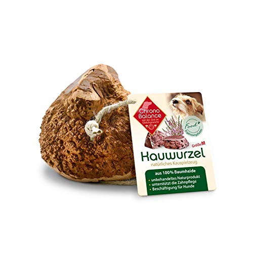 ChronoBalance® Kauwurzel für Hunde aus Baumheide - 100% Naturprodukt ohne Zusätze - dauer Kauspielzeug, splitterfrei - das natürliche Hundespielzeug/Kauknochen