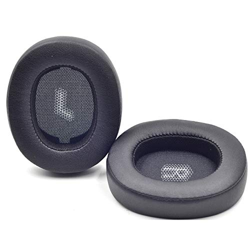 Replacement E55 Earpads Ear Pads Foam Ear Cushion Pillow Parts Cover Compatible with JBL E55BT E 55 bt Bluetooth Wireless Headsets (Black)