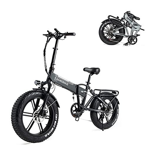 SAMEBIKE XWXL09 Fat Tire Bicicletta elettrica 500W Bicicletta elettrica Mountain Beach Snow Ebike 20 Pollici per Adulti (Nero)