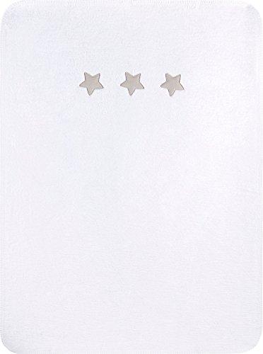 Julius Zöllner Couverture douce 75 x 100 cm couverture douce couverture bébé, étoiles blanc