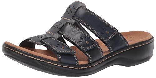 Clarks Women's Leisa Spring Sandal, Navy Multi Leather, 70 M US
