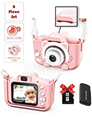 Kids Camera | Real Selfie iKID DIGITAL CAMERA PRO | Rechargeable Portable Toy for 3 4 5 6 7 8 9 + Year Old Smart Child | Learn Photography | Best GIFT for birthdays | For Boys & Girls (Baby Pink)