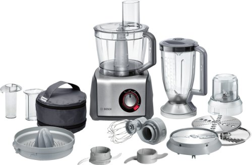 Bosch MCM68861GB Food Processor, 1250 W, 3.9 L - Brushed Stainless...