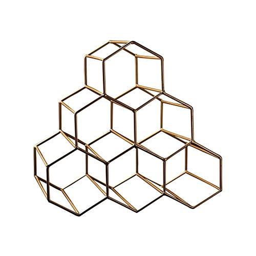YLongFEI Wijnglas Houder Geometrisch Ontwerp Creëert Settinghoningraat Vorm Welkom Toevoeging Warm Zeep Water Wijnrek Handdoek Droogstrijken