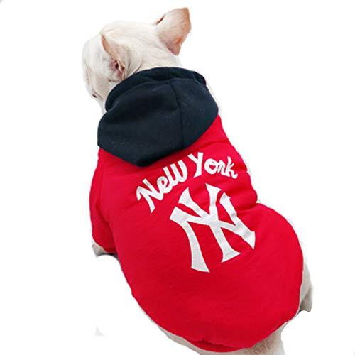 CHENSHJI huisdier kleding schattig huisdier kleding hond trui zachte dikke warme winter winddichte aansteker warme hond jas, XXL, Rood