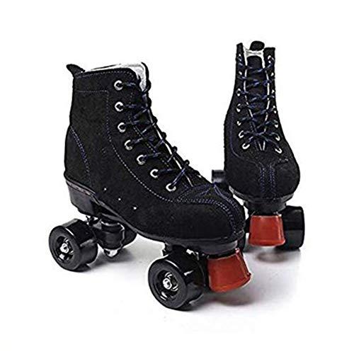 LRZ Rollschuhe Classic Quad Artistic Rollschuh Adult Youth Unisex, Eiskunstlauf Für Drinnen Und Draußen,41