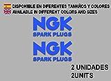 Ecoshirt EL-IZ66-4ORU Pegatinas Stickers Ngk F61