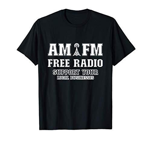 AM FM Radio Música gratis Camiseta