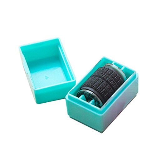 Office & Stationery,Enjocho 1Pc Guard Your ID Roller Stamp SelfInking Stamp Messy Code Security (Blue)