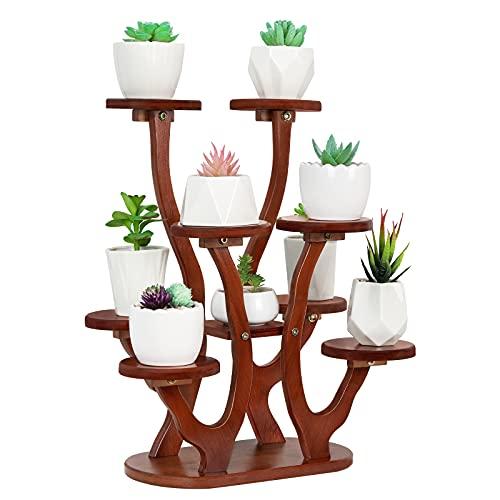 Jotsport 9 Pots Mini Succulent Stand Windowsill Small Plant Stand Multi Layers Succulents Display Shelf Kitchen Windowsill Desk Tabletop Plant Holder