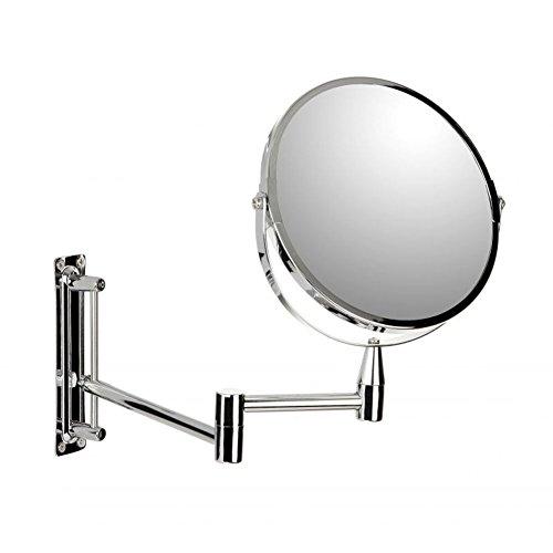 Sanixa TA44402 Hochwertiger Kosmetik-Spiegel|5-Fach Vergrößerung|Wandbefestigung|Schminkspiegel|Vergrößerungsspiegel|Make-Up Spiegel Bad|Rasierspiegel