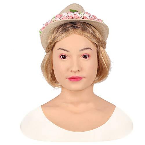 NADAENMJ Vrouwelijke Siliconen Masker Realistische Engel Gezicht Vrouwelijke Maskers Halloween Maskers Cosplay Mannelijk Aan Vrouwelijk