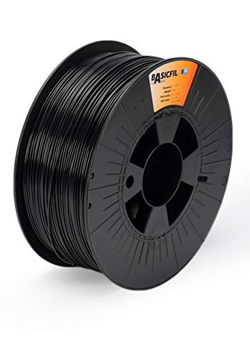 BASICFIL ABS 1.75mm, 1 kg filamento de impresión 3D, Negro