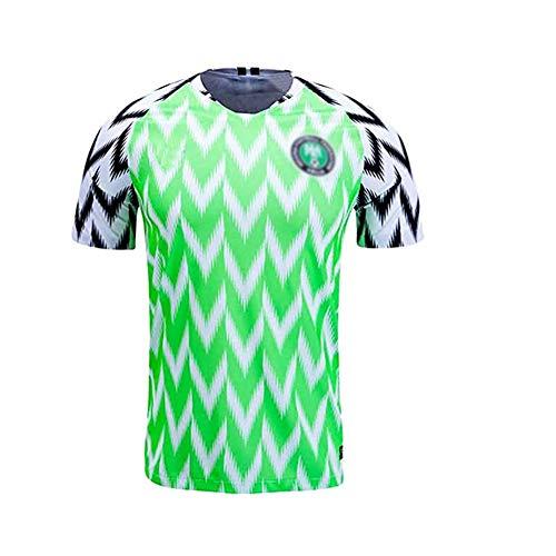 Herren Trikot Fußball Trikot, Fan Trikot Nigeria Heim Fußball Trikot, Herren Adult-Shirts Leichtathletik Retro Sport Freizeit T-Shirt-L