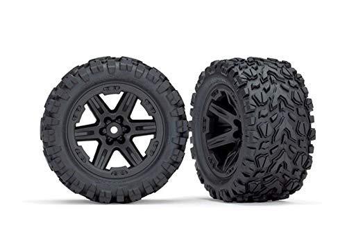 Traxxas Reifen & Felgen montiert 2.8 (Rustler 4X4) Felgen schwarz (T