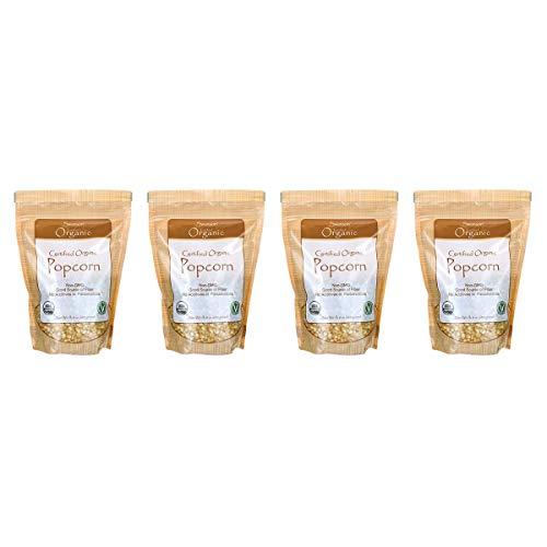New Swanson Certified Organic Popcorn 1 lb 8 Ounce (680 g) Pkg (4 Pack)