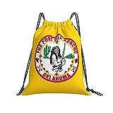 Mochila informal con cordones Fort Sill Apache Drawstring Bags Beam Mouth Gym Sack Travel Storage Rucksack Waterproof String Bags For Men Women