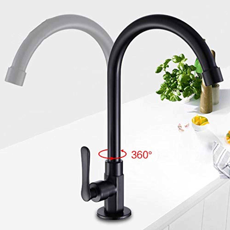 Taps schwarz Single Kaltwasser Küchenarmatur Deck Montiert Einhand Ein Loch Heie und Kalte Mischbatterie Rotation