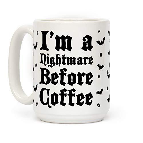 N\A Soy una Pesadilla Antes del café Taza de café de cerámica Blanca