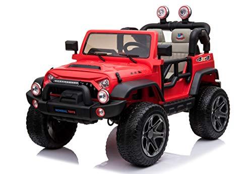 Mondial Toys Auto ELETTRICA 12V per Bambini 2 POSTI Maxi Fuoristrada con Telecomando 2.4G...