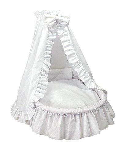Amigos XXL Ausstattung für Stubenwagen Weiß mit weißer Kante inkl. Matratze