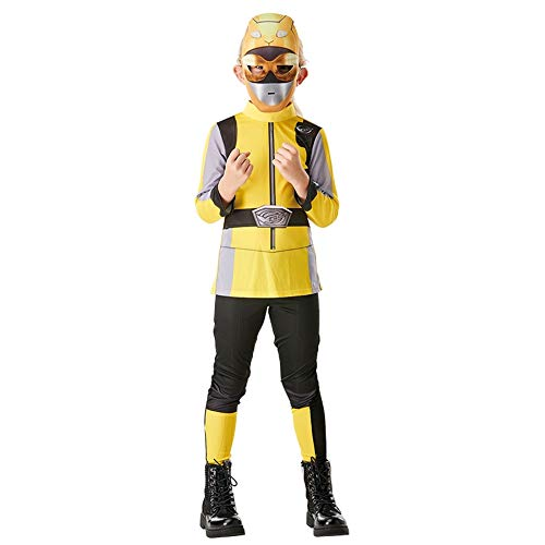 Rubies Power Ranger Beast Morpher Classic  Child, rojo, azul, amarillo  Power Ranger  Disfraz infantil rojo, azul o amarillo (amarillo, medio)