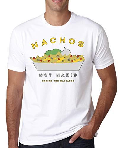 Nachos Not Nazis T-shirt voor heren Wit Grijs Zwart
