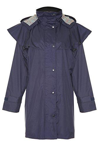 Champion Windsor Dreiviertellängige Wasserfesten Mantel mit Abnehmbare Kaputze für Damen (Blau) 46