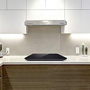 CIARRA Dunstabzugshaube 60cm 3 Leistungsstufen Abluft Umluft Unterbauhaube (Silber),Kompatible CBCS6903 Kohlefilter